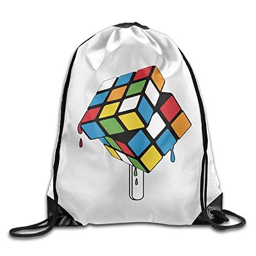 Price comparison product image Rubik's Cube Unisex Outdoor Rucksack Shoulder Bag Travel Drawstring Backpack Bag