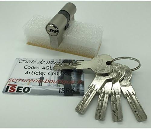 Leva Larga n/íquel, 40 x 40 mm Iseo 880940409.5 Bombillo de Seguridad 40X40
