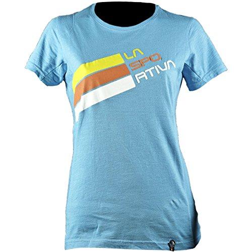 T-shirt La Deportiva Para Mujer-Logo Malibu Blue Stripe