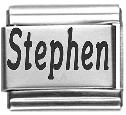 Stephen Laser Name Italian Charm Link