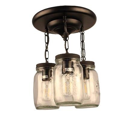 Guancy Vintage Colgante luz Tarro de masón lámpara Retro ...
