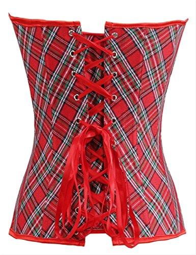 Victorian Sexy Lace up Vollbrust Neckholder Korsett Kostüm Damen Burlesque Corsage