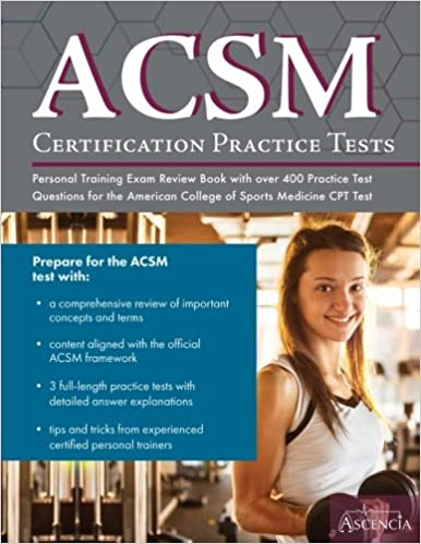 buy acsm certification practice tests: personal training exam review ...