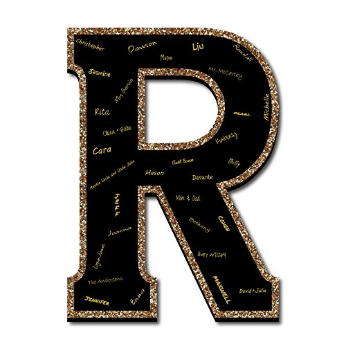 "Foam Board Books - Signature Letter R - Guest Book Sign Letter - 21"" Foam Board Party Guestbook Alternative 