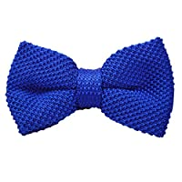 Alizeebridal Men's Neck Tie Tuxedo Knitted Bow Tie Knitting Casual Ties