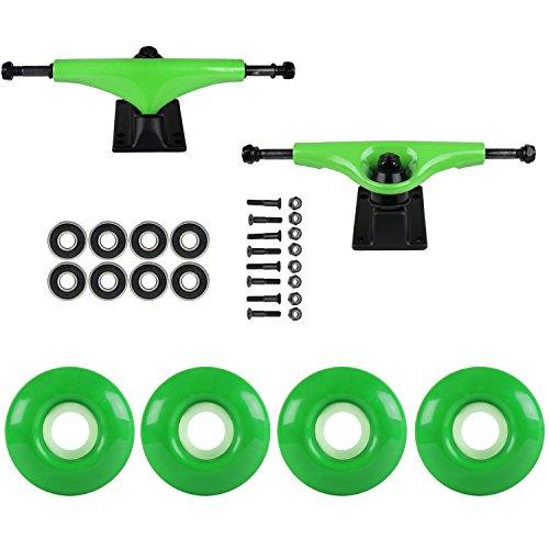 リークファブリックカフェスケートボードパッケージHavocグリーン5.0 Trucks 52 MmケリーグリーンABEC 7 Bearings