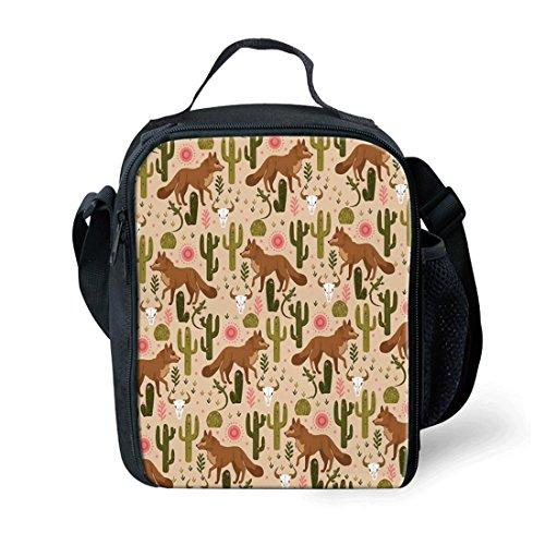 Showudesigns - Bolsa de almuerzo reutilizable para niños y viajes al aire libre Small Horse Coyote