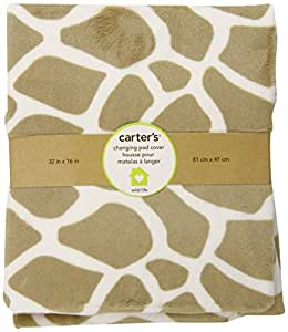 Amazon Com Carter S Wildlife Velour Changing Pad Cover