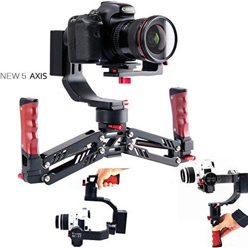Nikon Panasonic Lumix - Nicama NC-ST Dual Handheld Stabilizer 5-Axis Brushless Gimbal Compatible with DSLR Camera and Mirrorless Camera A7 Series Panasonic LUMIX Series Nikon J Series Canon M Series