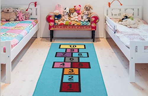 Ottomanson Children's Garden Collection Educational Hopscotch Design, 2'7