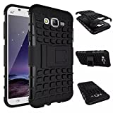 Flip Kick Stand Spider Hard Dual Rugged Shock Proof Tough Hybrid Armor Bumper Back Case Cover for Samsung Galaxy Grand 2 Black