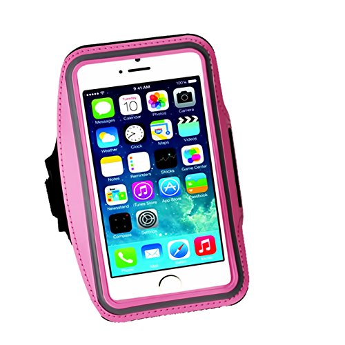 Cell Phone Armband: 5.7 Inch Case for iPhone X 8/8plus/7 Plus, 6/6S Plus, S8, All Galaxy Note Phones.etc. CaseHQ Adjustable Reflective Workout Band, Key Holder & Screen Protector - Alarm Tigers Detroit