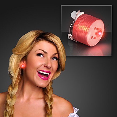 Set of 25 Mini Red Non-Flashing LED Candy Lites with Clip