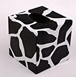 Leather Square Tissue Box Creative Personality Living Room Home Office Pumping Tray Box (Stone Pattern)