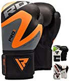 RDX Boxing Gloves Training Punching Bag Sparring Maya Hide Leather Muay Thai Mitts