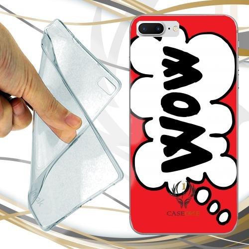 CUSTODIA COVER CASE CASEONE WOW FUMETTO PER IPHONE 7 PLUS