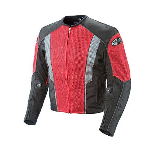 - Joe Rocket Phoenix 5.0 Men's Mesh Motorcycle Riding Jacket (Red/Black, Large)