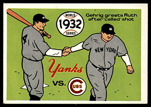 (Baseball MLB 1970 World Series #29 1932 - Yankees vs. Cubs - Lou Gehrig/Babe Ruth EX Excellent)