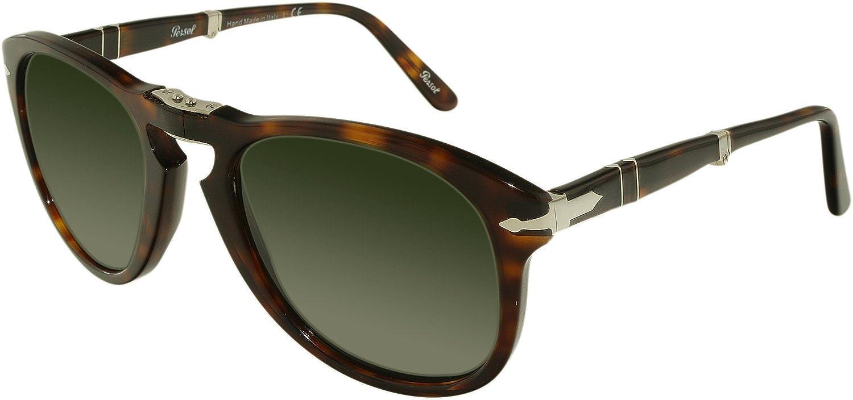 a687d510a51d Amazon.com: Persol PO0714 Sunglasses 24/31 Folding Havana/Crystal Green  Lens 54mm: Persol: Shoes