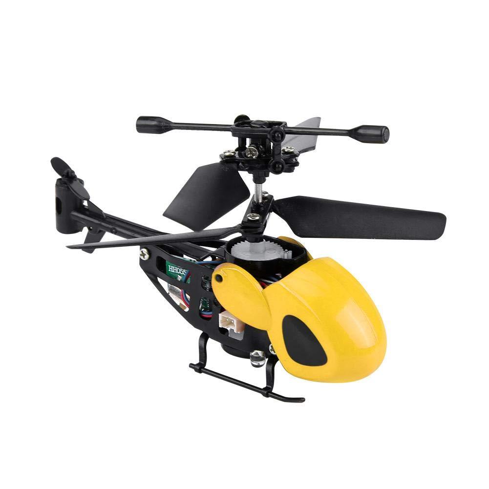 Mini 2 Kanal 4 Farben Infrarot Fernbedienung Flugzeug Drohne Hubschrauber Spielzeug f/ür Kinder Alomejor RC Hubschrauber Spielzeug