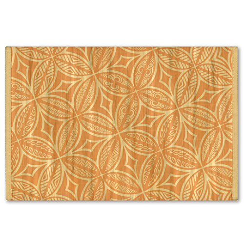 Welcome to the Islands Hawaiian Style Bamboo Placemat Tapa Terracotta Set of 4 ()