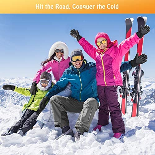 Winter Ski Gloves -Waterproof 3M Thinsulate Work & Snow Gloves for Women and Men
