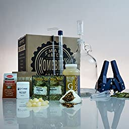 1 Gallon Small Batch Homebrew Beer Equipment Starter Kit with Smashing Pumpkin Ale Beer Recipe Kit