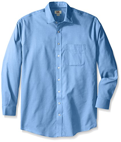 Cutter & Buck Men's Big and Tall Long Sleeve Easy Care Spread Collar Nailshead, Atlas, (Nailshead Woven Shirt)