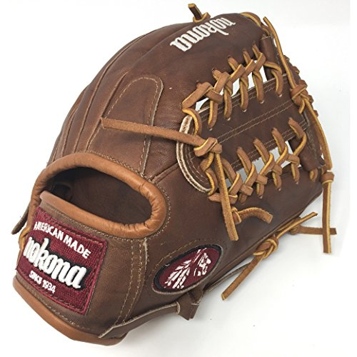 Nokona WB1150-M 11.5-Inch Modified Trap Web Walnut Leather Baseball Glove (Right-Handed (Web Infielders Right Handed Throw)