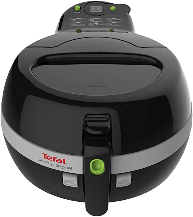 T-fal FZ700251 Actifry Oil Less Air Fryer with Large 2.2 Lbs Food Capacity and Recipe Book, Black