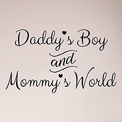 Amazon Com 24 X13 Daddy S Boy And Mommy S World Wall Decal Sticker