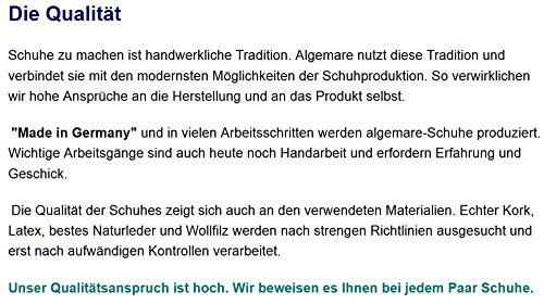 Algemare Herren Pantolette Schwarz Nappa Nubuk Algen-Kork Wechselfußbett Leder 7260_1392, Größe:46