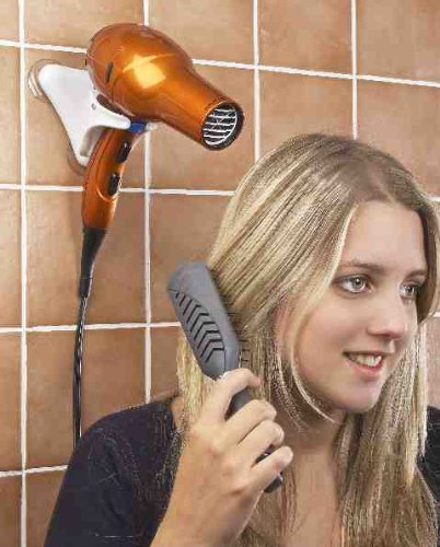Price comparison product image Hands Free Hair Dryer Holder - Compact For Home And Travel! By JUMBL