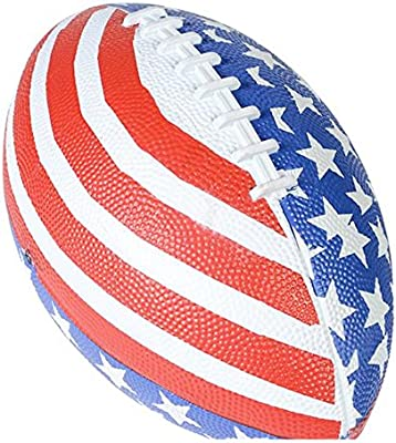 Patriótica estrellas y rayas americano bandera fútbol (1): Amazon ...