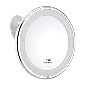 Ysia Miroir Grossissant X10 Lumineuxmiroir De Poche Double Face X1