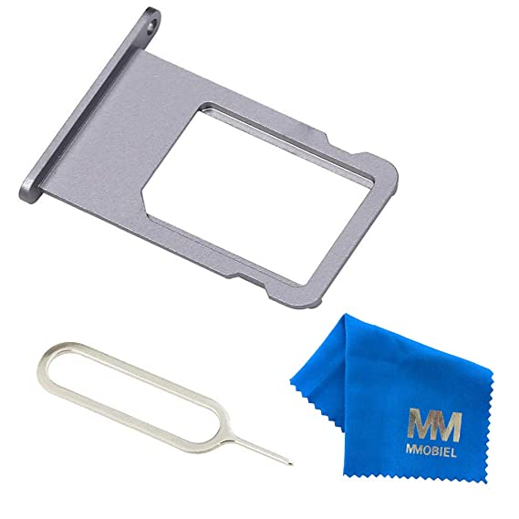 quality design cc002 83616 MMOBIEL SIM Card Tray Slot Replacement Part Compatible with iPhone 6 Plus  5.5 Inch (Black) incl Sim pin