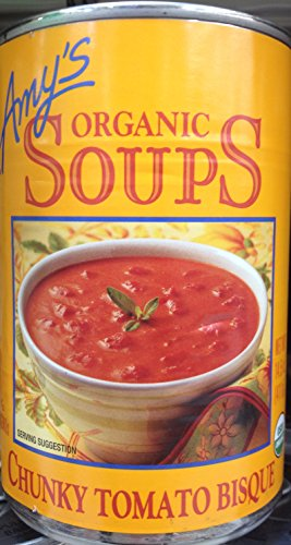 Organic Chunky Tomato Bisque - Amy's Organic Soups Chunky Tomato Bisque 14.5oz Can (Pack of 5)