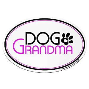 "Imagine This ""Dog Grandma"" Oval Car Magnet from Imagine This"
