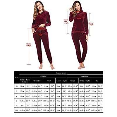 Aiboria Women's Solid Velour Sweatsuit Set Hoodie and Pants Sport Suits Tracksuits at Women's Clothing store