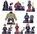 Avengers 2 Age of Ultron Building Bricks Block Sets Education Toys PVC Action Mini Figures 8 Pcs/Set # 271-48
