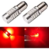 ENDPAGE 1157 2057 2357 7528 BAY15D LED Bulb 2-pack, Brilliant Red, Extremely Bright, 54-SMD with Projector Lens, 10-30V, Work as Brake Lights, Tail Lights, Turn Signal Blinkers