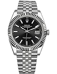 Datejust 41 Black Dial Stainless Steel Mens Watch