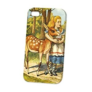 Case Fun Apple iPhone 4 / 4S Case - Vogue Version - 3D Full Wrap - Alice in Wonderland The Fern