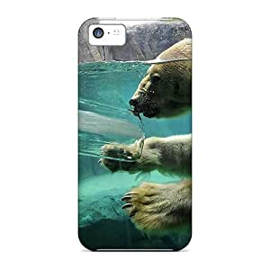 Cute Appearance Covers/QfS11000sNQY Polar Bear In Water Cases For Iphone 5c