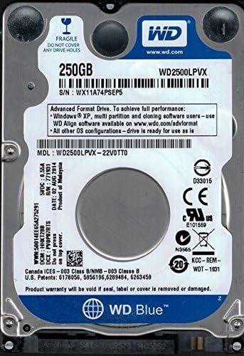 WD2500LPVX-22V0TT0 DCM HHKT2BB WX11A Western Digital 250GB