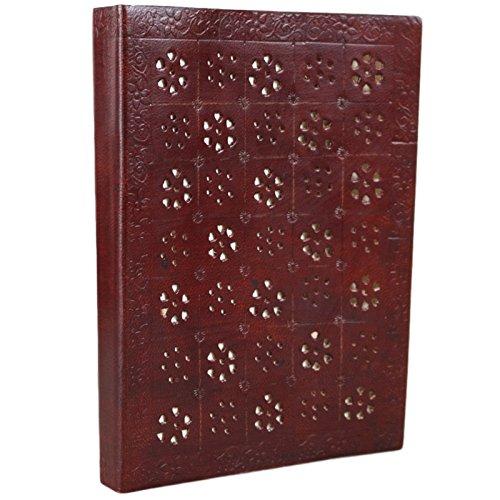 Diario de piel hecho a mano con sello Unlined Sketchbook Notebook 15,2x 20,3cm por Ferus & Fivel