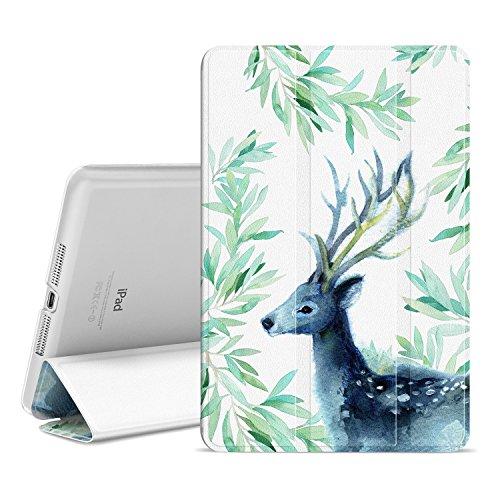 Ayotu Colorful Shell for iPad Mini 1 Case,Mini 2 Cover Mini 3 Slim Stand Smart Cover with Auto Wake/ Sleep Protective Cover for iPad Mini 1 / Mini 2 / Mini 3- The (Colorful Smart Cover)