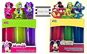 Mickey and Minnie Mouse 6ct Popsicle Molds