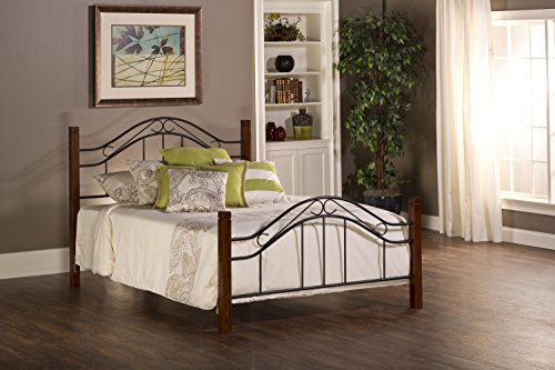 Metal Traditional Sleigh Bed - Hillsdale Furniture 1159BK Matson Collection Bed Set Without Frame, King, Cherry/Black