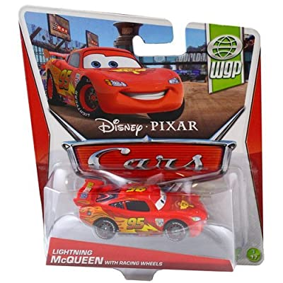 Cars WGP Lightning McQueen with Racing Wheels 1:55: Toys & Games